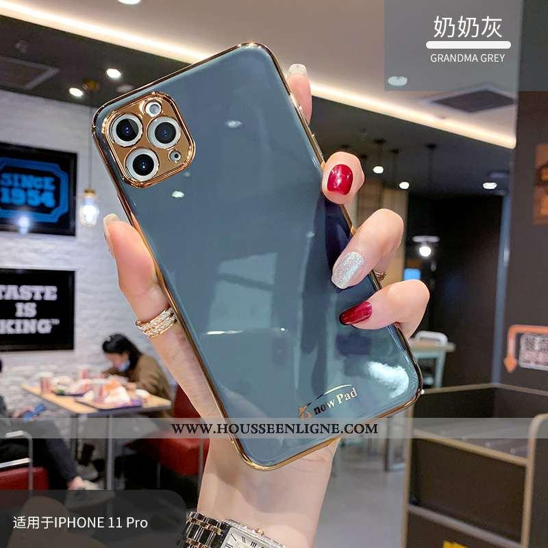 Housse iPhone 11 Pro Max Créatif Tendance Bleu Marin Vent Incassable Téléphone Portable Fluide Doux