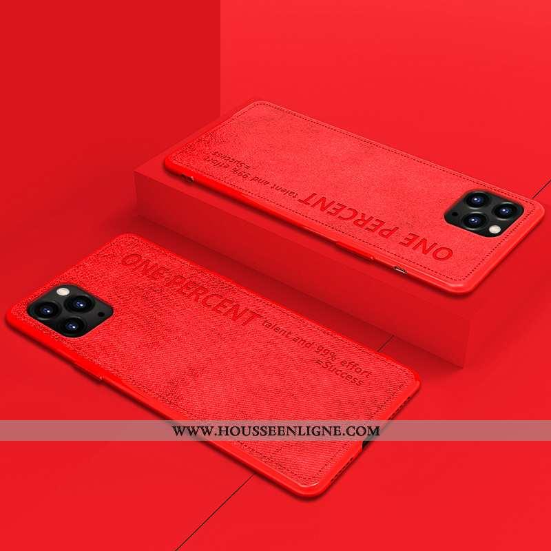 Housse iPhone 11 Pro Max Ultra Légère Simple Original Étui Téléphone Portable Vintage Rouge