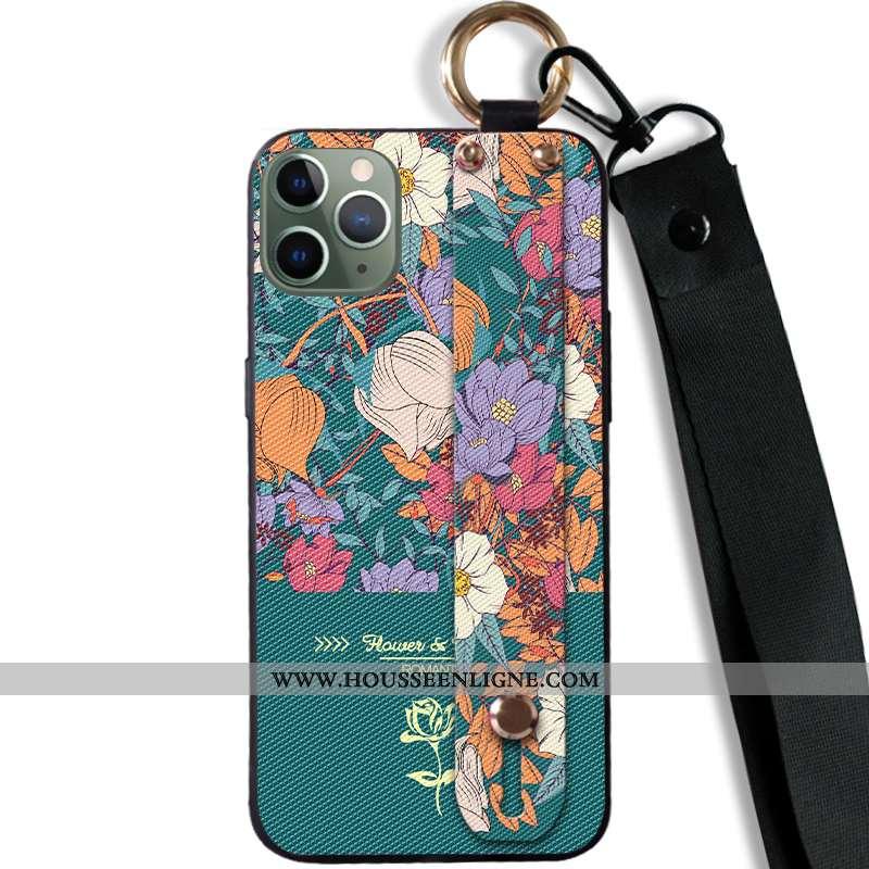 Housse iPhone 11 Pro Tendance Fluide Doux Vert Tout Compris Créatif Téléphone Portable Personnalité