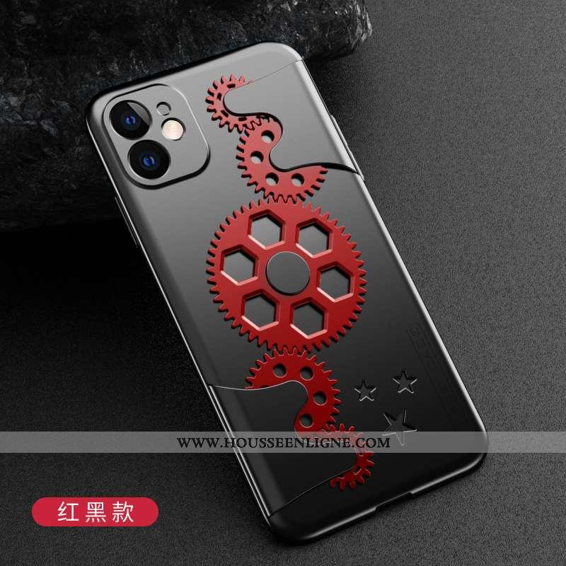 Housse iPhone 11 Protection Délavé En Daim Rouge Étui Téléphone Portable Tout Compris Légère