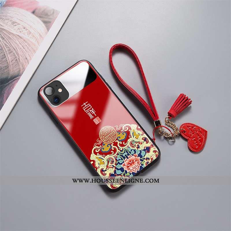 Housse iPhone 11 Protection Verre Tendance Miroir Incassable Amoureux Difficile Rouge