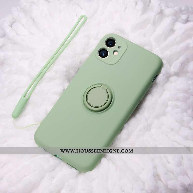 Housse iPhone 11 Ultra Légère Ornements Suspendus Net Rouge Silicone Anneau Vert Verte