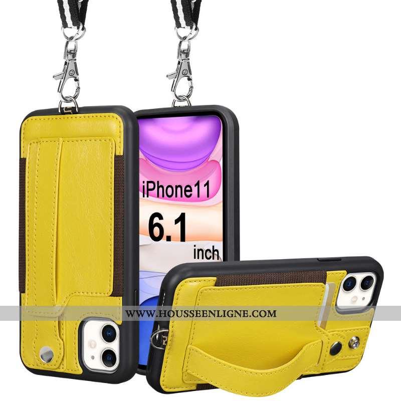 Housse iPhone 11 Ultra Légère Ornements Suspendus Tout Compris Légères Vent Téléphone Portable Jaune