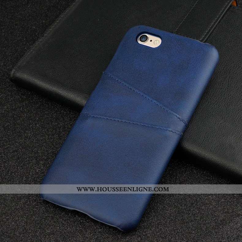 Housse iPhone 6/6s Cuir Protection Tempérer Personnalité Business Difficile Membrane Bleu