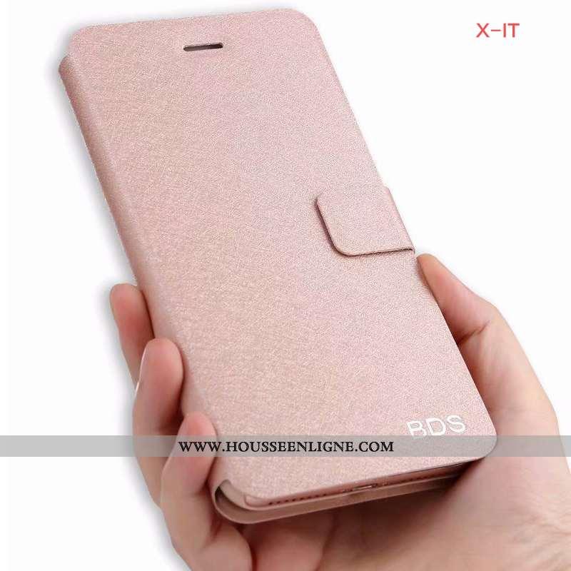 Housse iPhone 6/6s Cuir Téléphone Portable Rose Étui Clamshell Coque Soie Mulberry