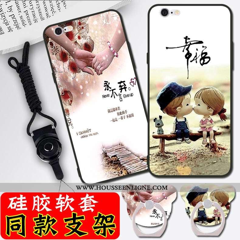 Housse iPhone 6/6s Dessin Animé Silicone Blanc Coque Nouveau Téléphone Portable Simple Blanche