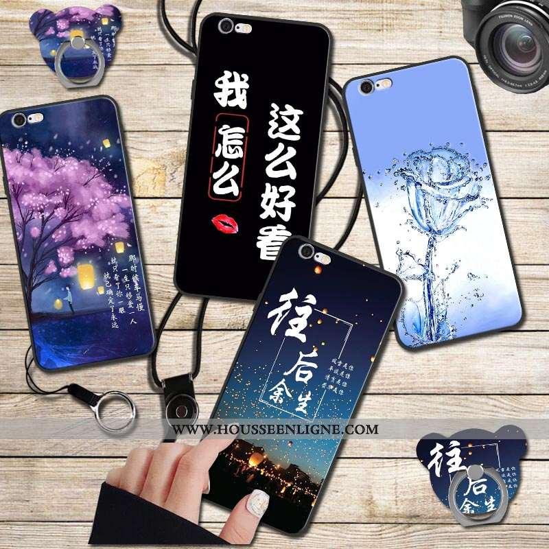 Housse iPhone 6/6s Fluide Doux Coque Noir Étui Téléphone Portable