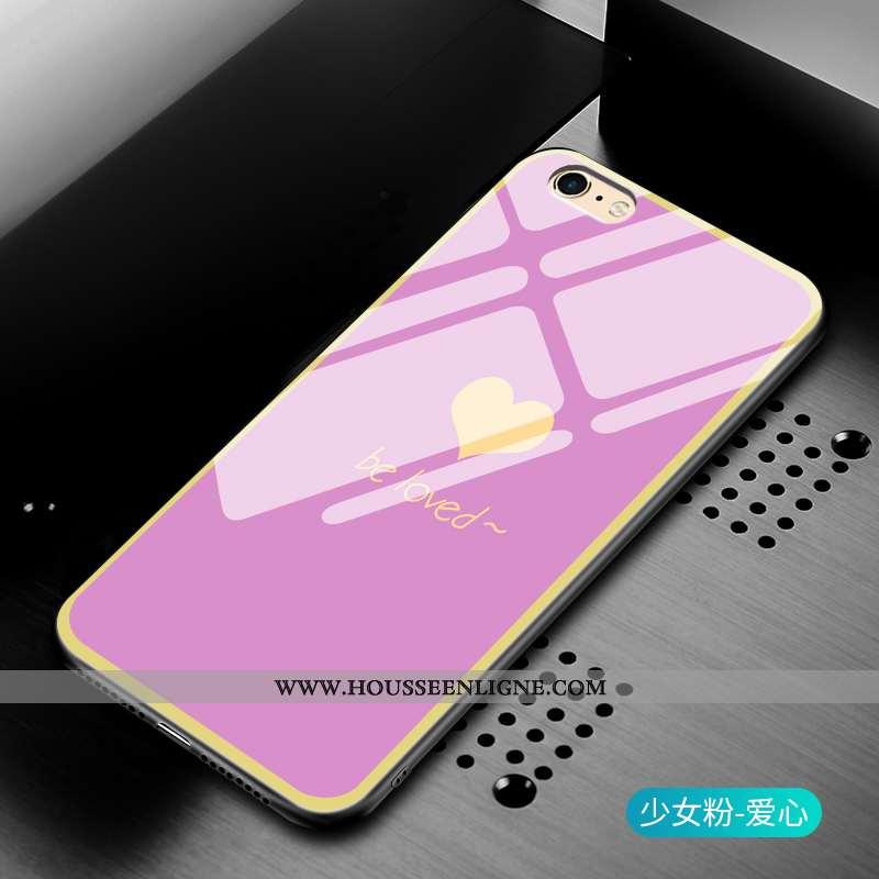 Housse iPhone 6/6s Mode Protection Simple Tout Compris Verre Gris Incassable Rose