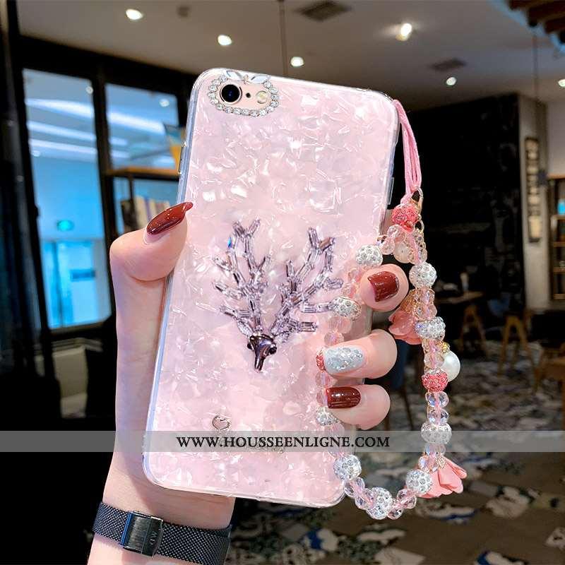 Housse iPhone 6/6s Plus Créatif Tendance Nouveau Fluide Doux Elk Téléphone Portable Net Rouge Rose