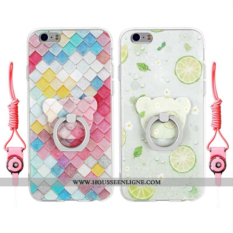 Housse iPhone 6/6s Plus Gaufrage Charmant Transparent Étui Personnalité Multicolore Coque Coloré