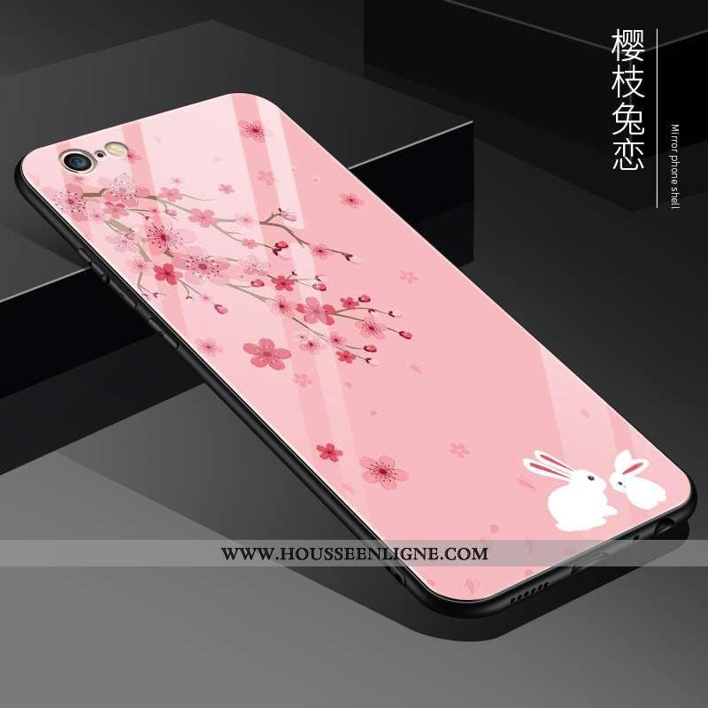 Housse iPhone 6/6s Plus Protection Verre Difficile Personnalité Tout Compris Incassable Coque Rose
