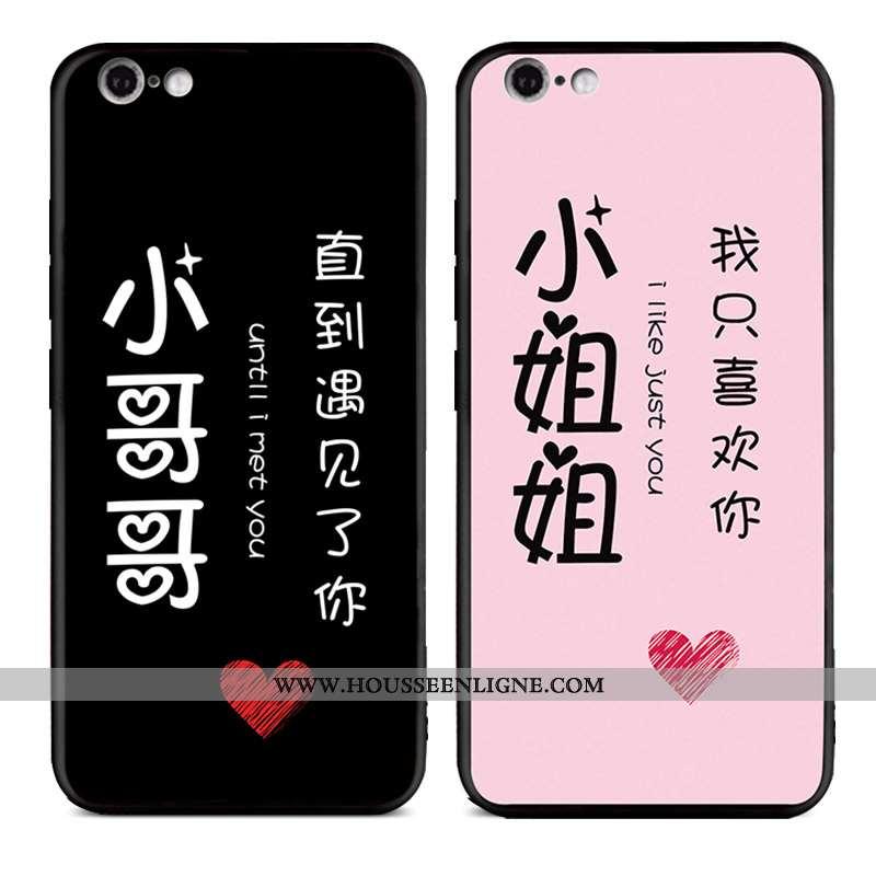Housse iPhone 6/6s Silicone Protection Délavé En Daim Personnalité Téléphone Portable Noir Coque