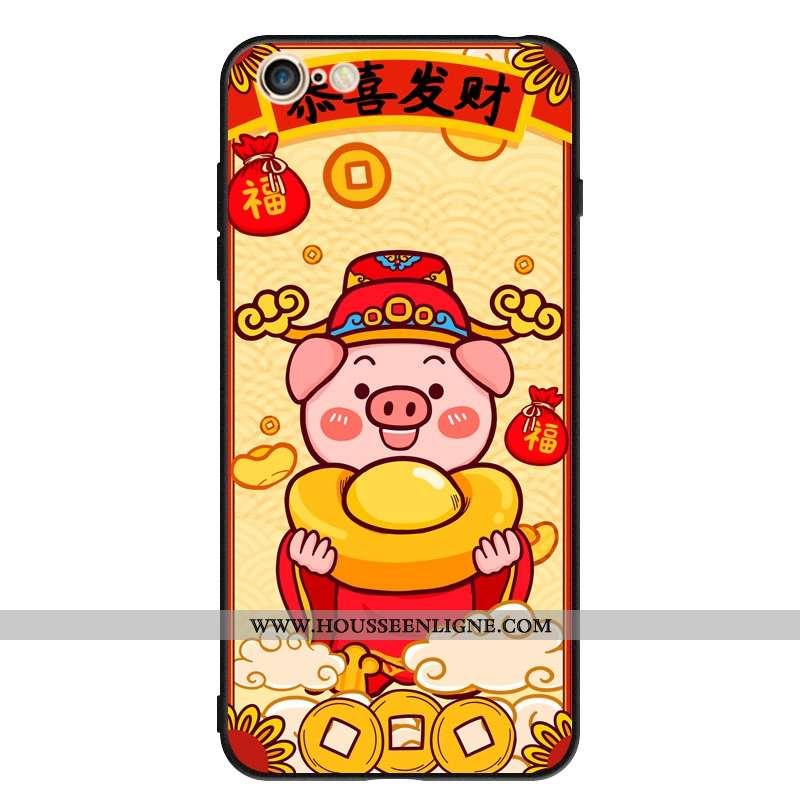 Housse iPhone 6/6s Silicone Protection Jaune Tendance Téléphone Portable Personnalité Étui