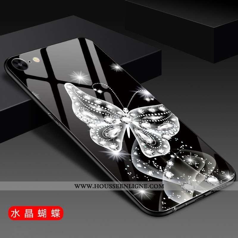 Housse iPhone 6/6s Verre Tendance Coque Téléphone Portable Petit Étui Noir
