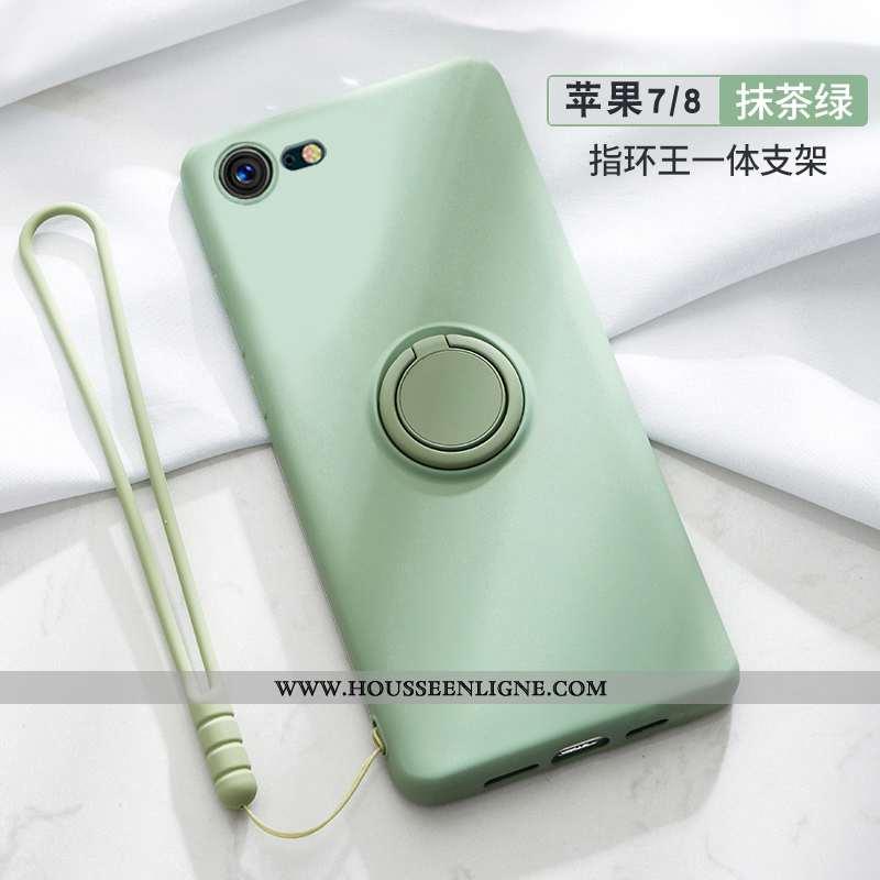 Housse iPhone 7 Légère Fluide Doux Silicone Net Rouge Ultra Tout Compris Vert Verte