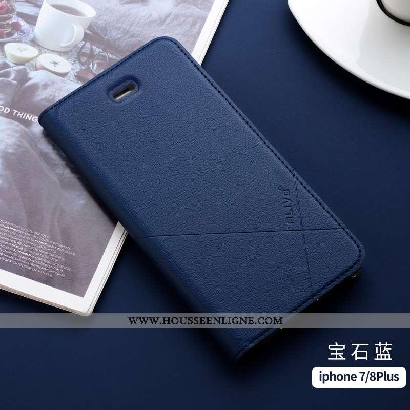 Housse iPhone 7 Plus Silicone Protection Coque Incassable Tout Compris Nouveau Fluide Doux Bleu