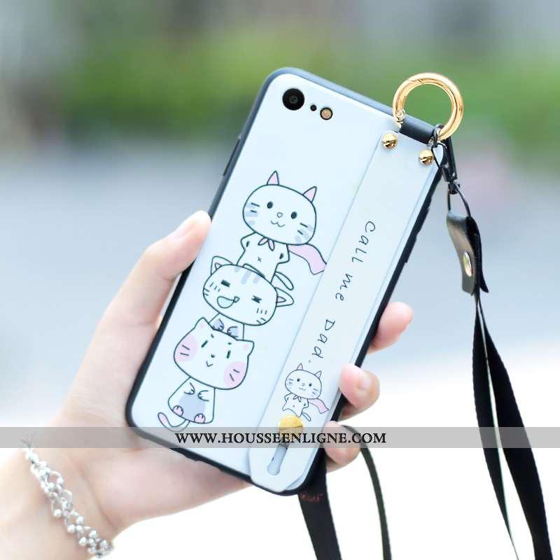 Housse iPhone 7 Silicone Protection Tout Compris Coque Créatif Personnalité Téléphone Portable Blanc