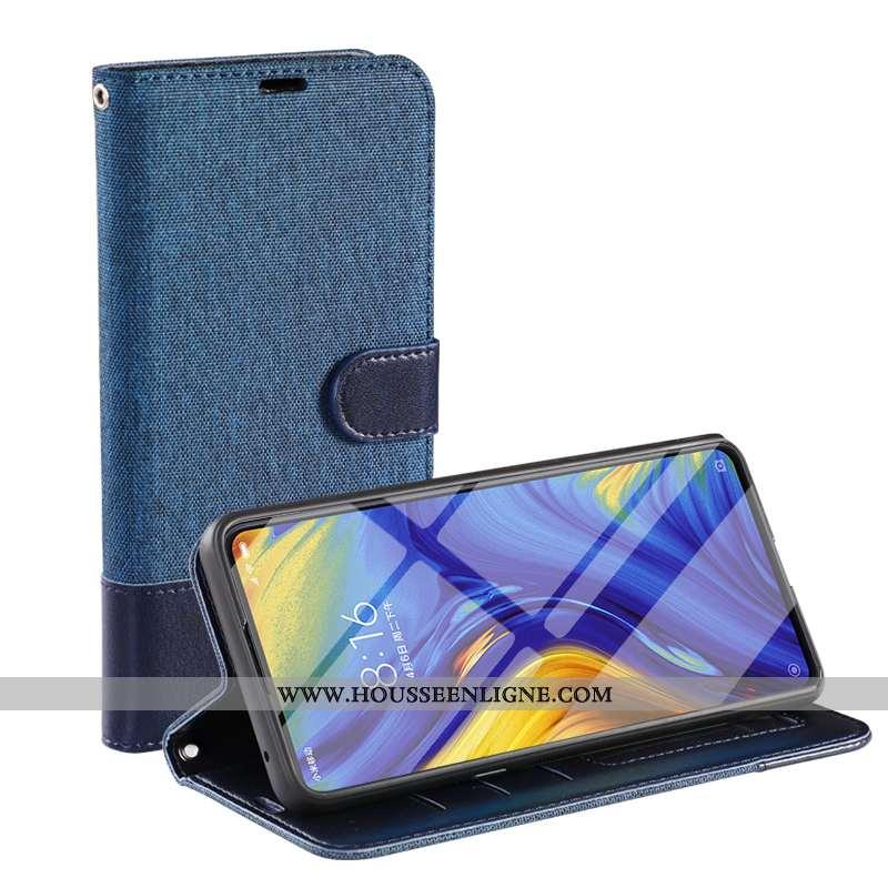 Housse iPhone 8 Cuir Tempérer Bleu Marin Membrane Étui Clamshell Coque Bleu Foncé