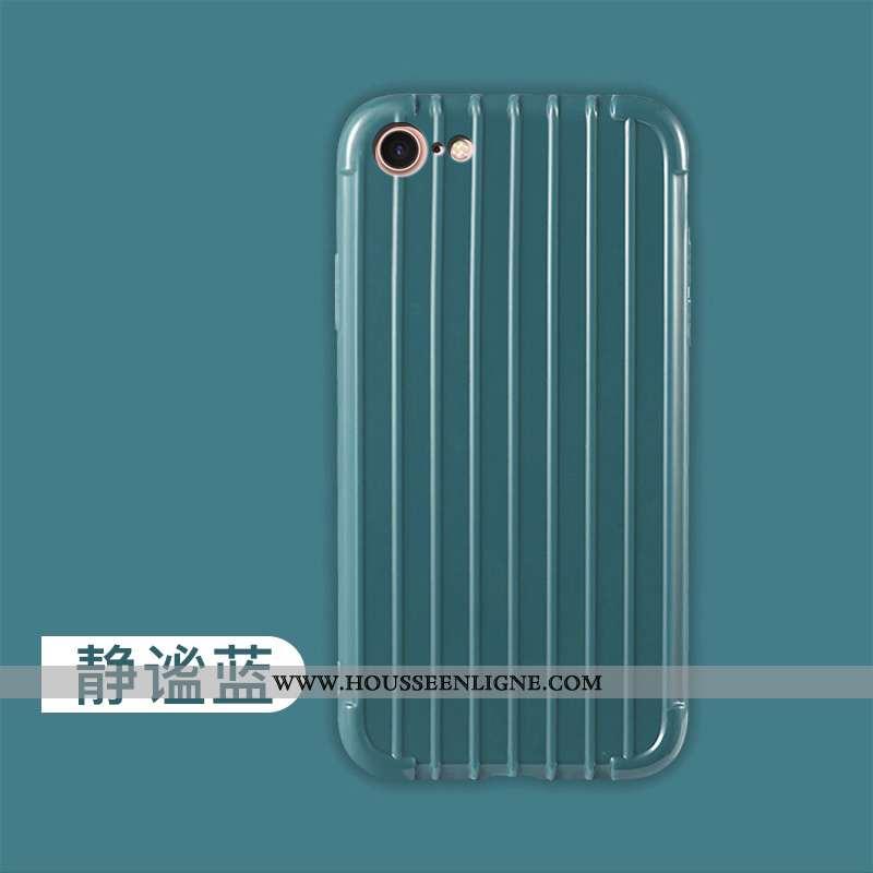 Housse iPhone 8 Légère Fluide Doux Petit Incassable Ultra Silicone Mode Bleu