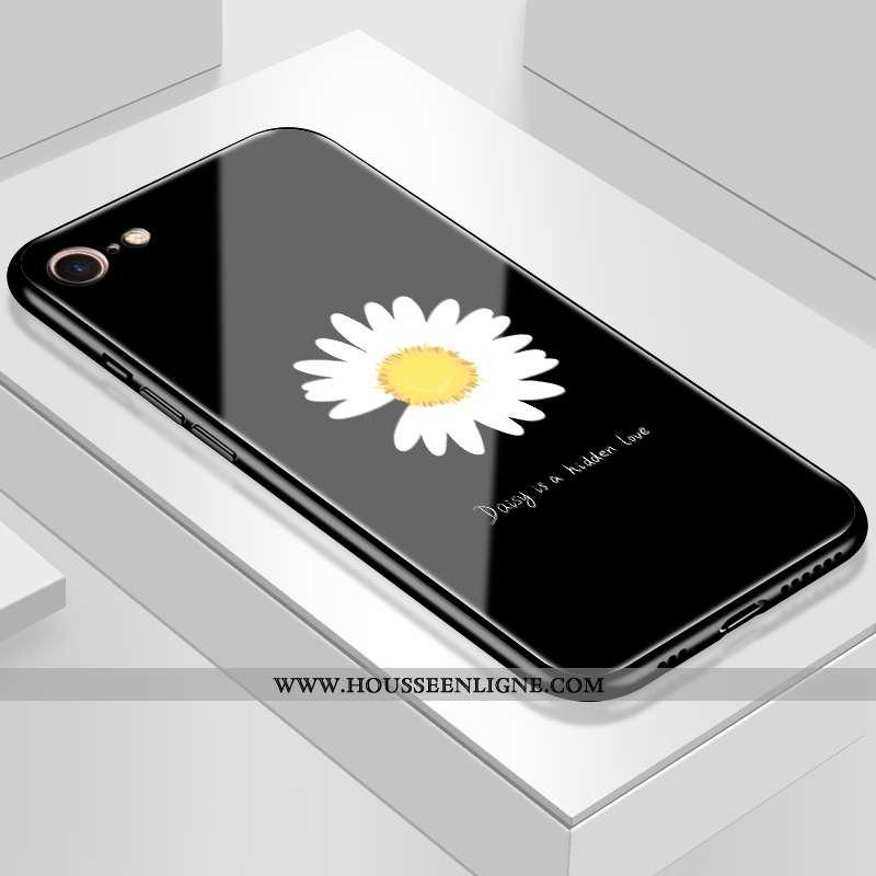 Housse iPhone 8 Mode Protection Petite Marguerite Étui Tendance Net Rouge Noir