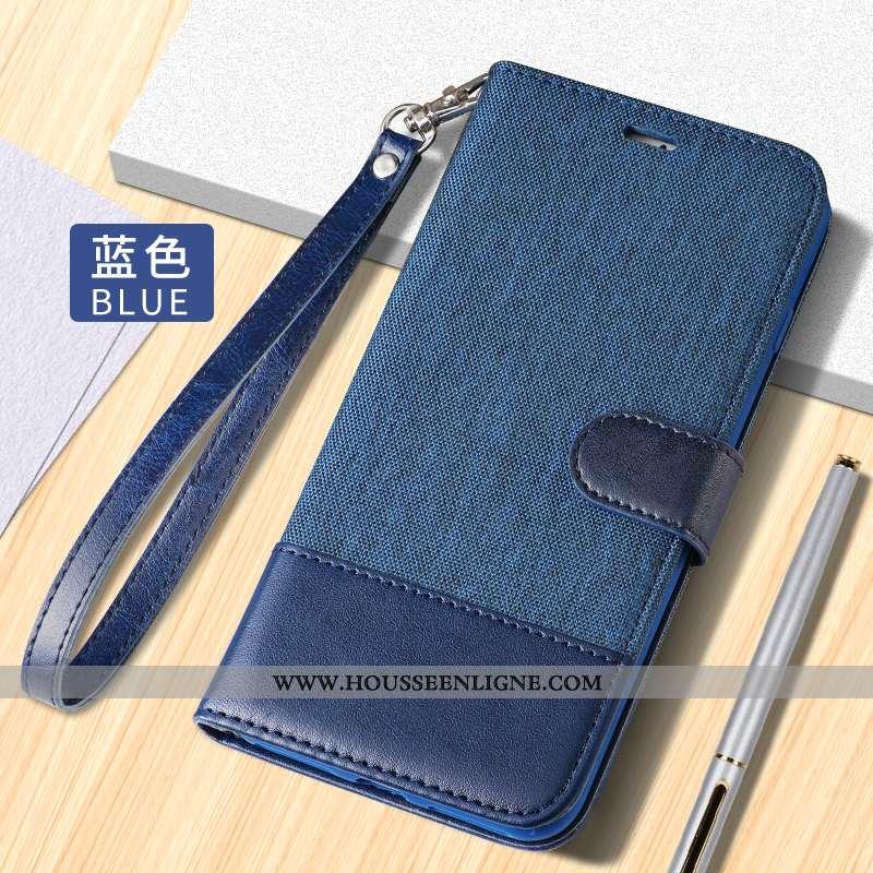 Housse iPhone 8 Plus Cuir Étui Membrane Téléphone Portable Clamshell Bleu Coque