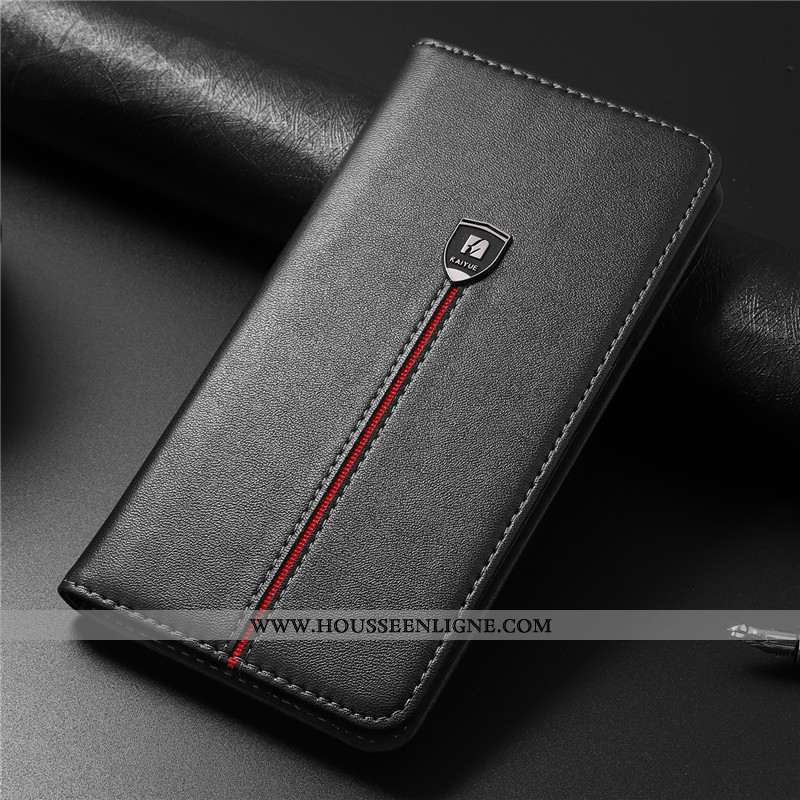 Housse iPhone 8 Plus Fluide Doux Protection Noir Cuir Véritable Tout Compris Business Cuir