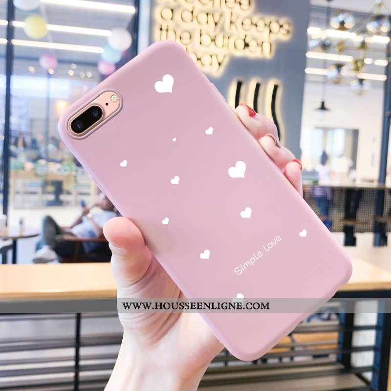 Housse iPhone 8 Plus Protection Tendance Téléphone Portable Étui Silicone Tout Compris Coque Rose