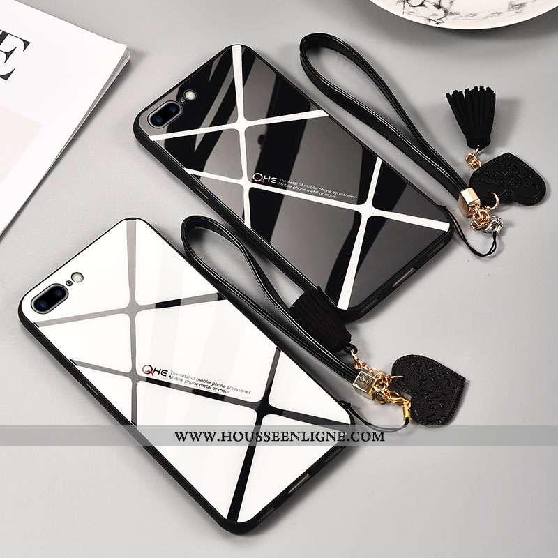 Housse iPhone 8 Plus Silicone Protection Net Rouge Noir Téléphone Portable Incassable Amoureux