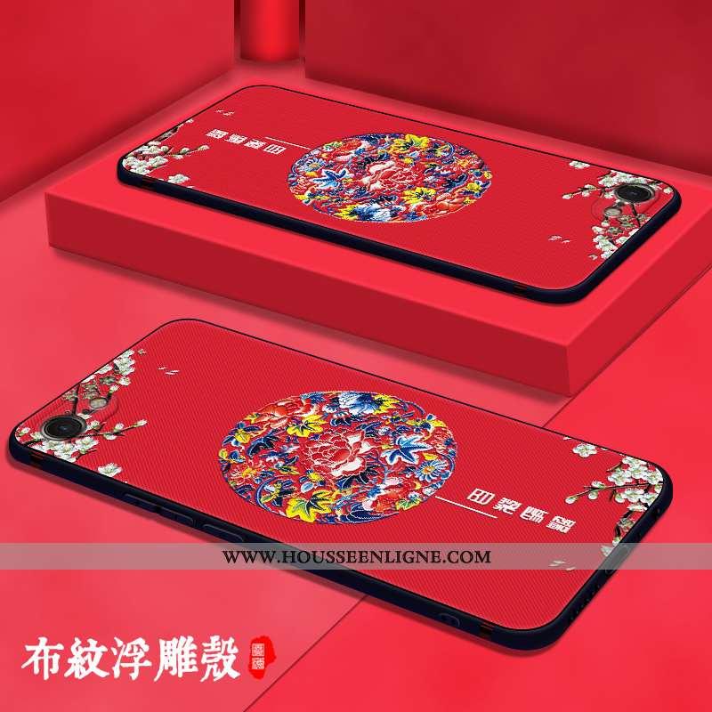 Housse iPhone Se (nouveau) Légère Fluide Doux Vent Délavé En Daim Personnalité Téléphone Portable Cr