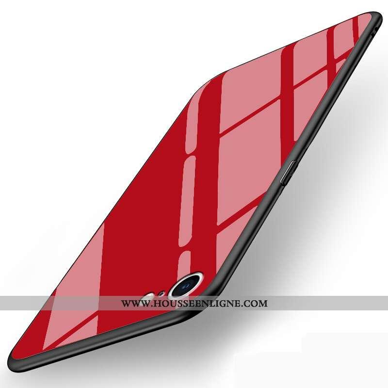 Housse iPhone Se (nouveau) Personnalité Mode Nouveau Verre Protection Simple Tout Compris Rouge