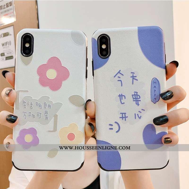 Housse iPhone X Créatif Ultra Vent Incassable Téléphone Portable Personnalité Légère Bleu