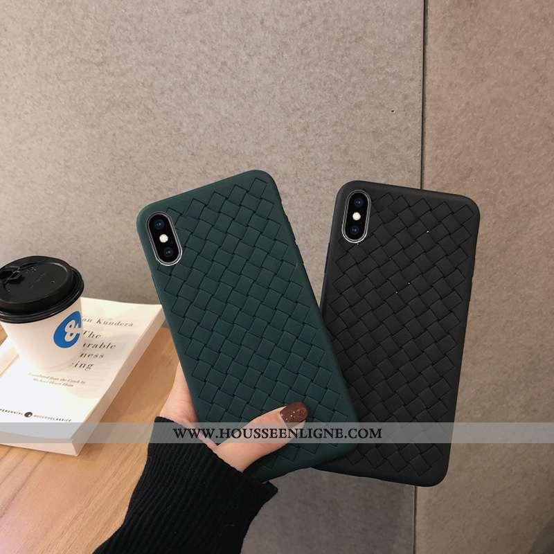 Housse iPhone X Fluide Doux Silicone Refroidissement Tendance Incassable Tissage Noir