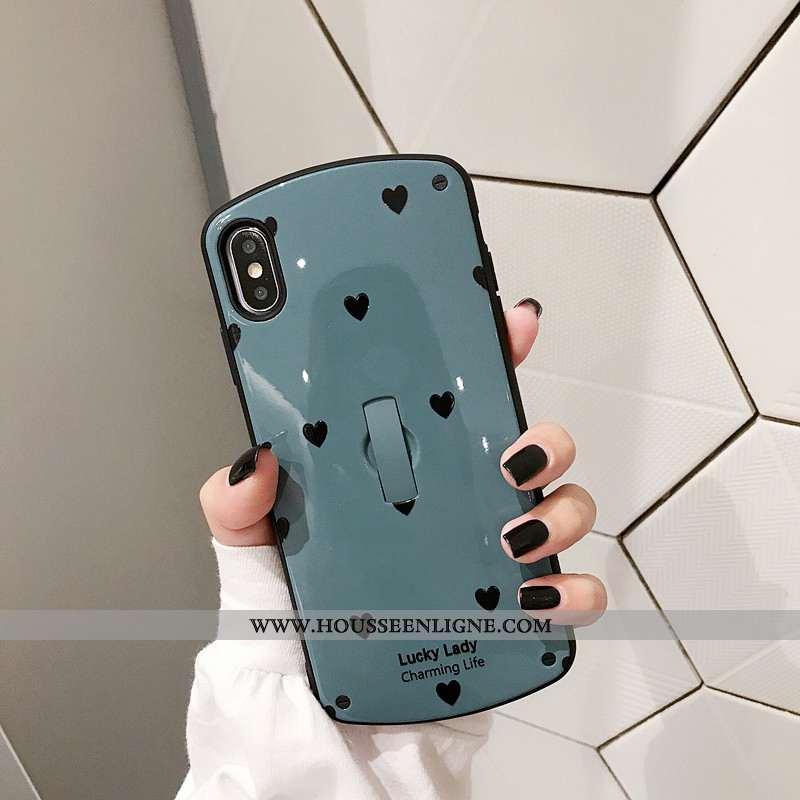 Housse iPhone X Protection Tendance Support Amoureux Bleu Téléphone Portable Étui