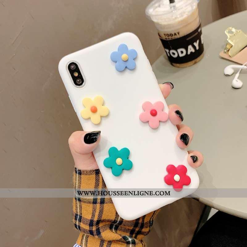 Housse iPhone X Silicone Fluide Doux Blanc Incassable Vent Coque Tout Compris Blanche