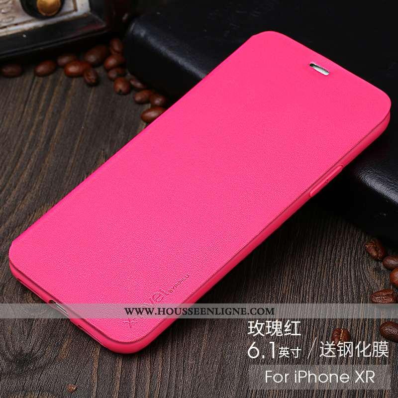 Housse iPhone Xr Créatif Ultra Tendance Tout Compris Rouge Téléphone Portable Nouveau Rose
