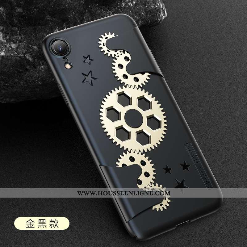 Housse iPhone Xr Protection Délavé En Daim Net Rouge Tendance Respirant Luxe Téléphone Portable Doré