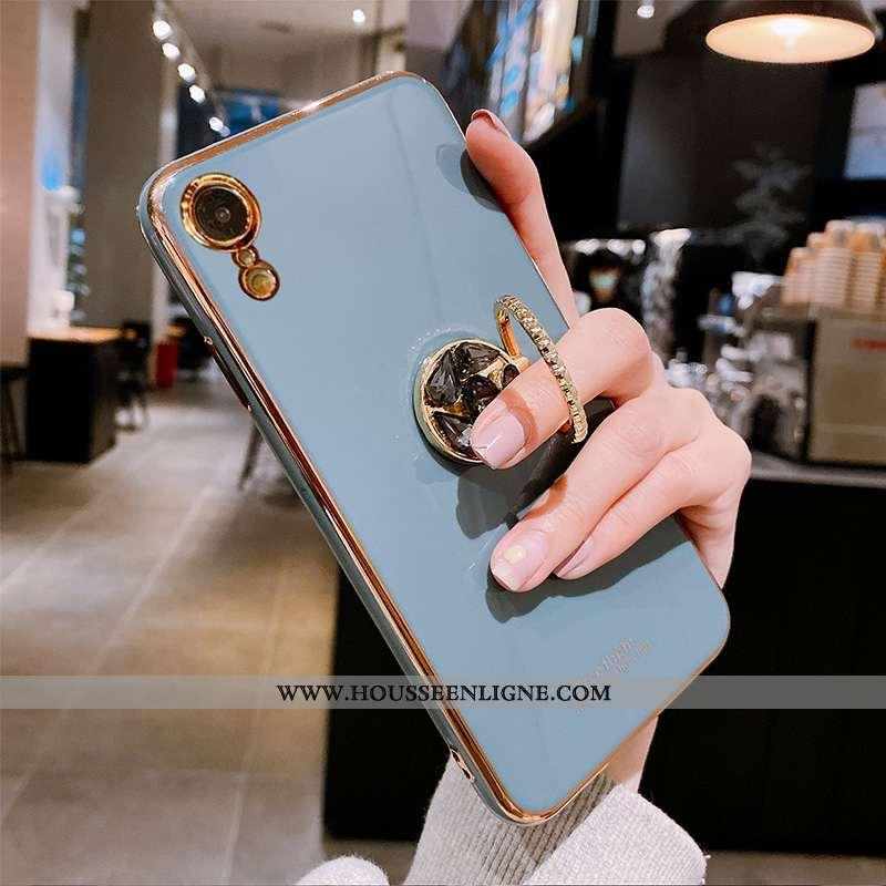 Housse iPhone Xr Tendance Fluide Doux Bovins Vert Incassable Net Rouge Étui Bleu