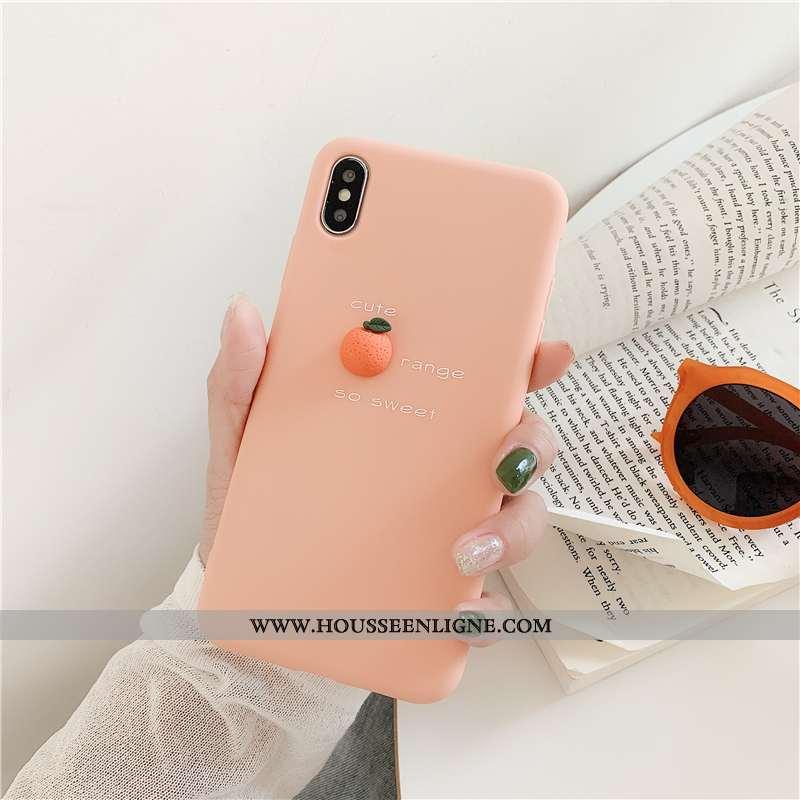 Housse iPhone Xs Créatif Fluide Doux Étui Bovins Téléphone Portable Tout Compris Frais Rose