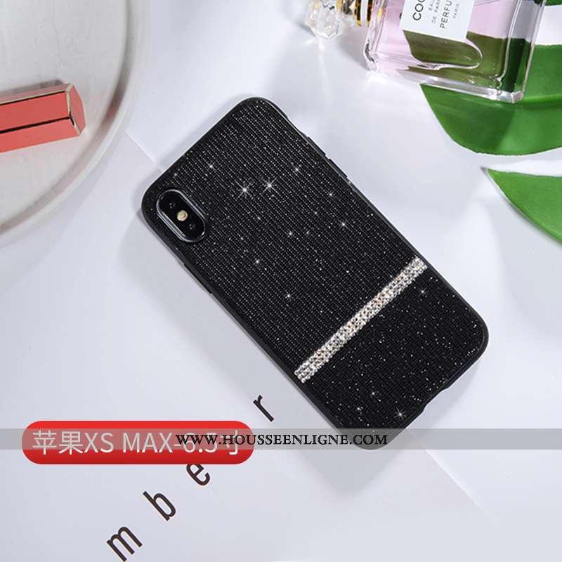 Housse iPhone Xs Max Créatif Ultra Luxe Personnalité Téléphone Portable Net Rouge Légère Noir