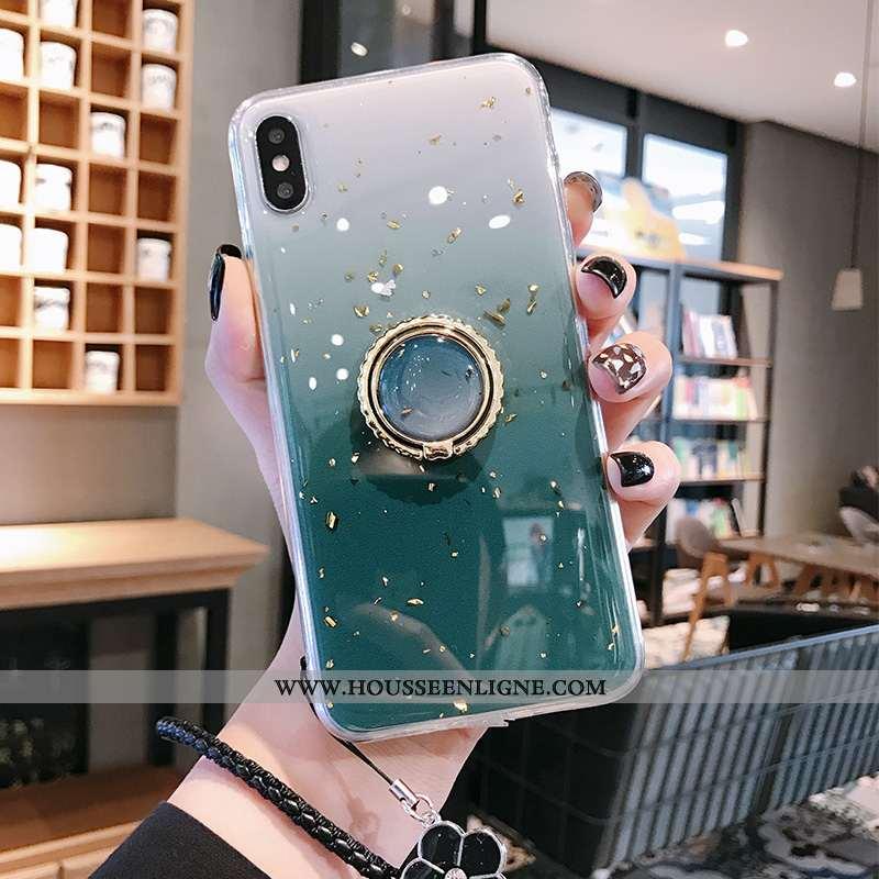 Housse iPhone Xs Max Fluide Doux Silicone Incassable Personnalité Tout Compris Tendance Coque Turquo
