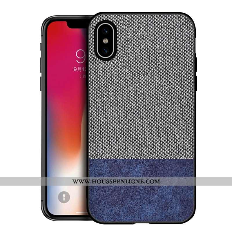 Housse iPhone Xs Max Silicone Protection Gris Délavé En Daim Tendance Téléphone Portable Nouveau