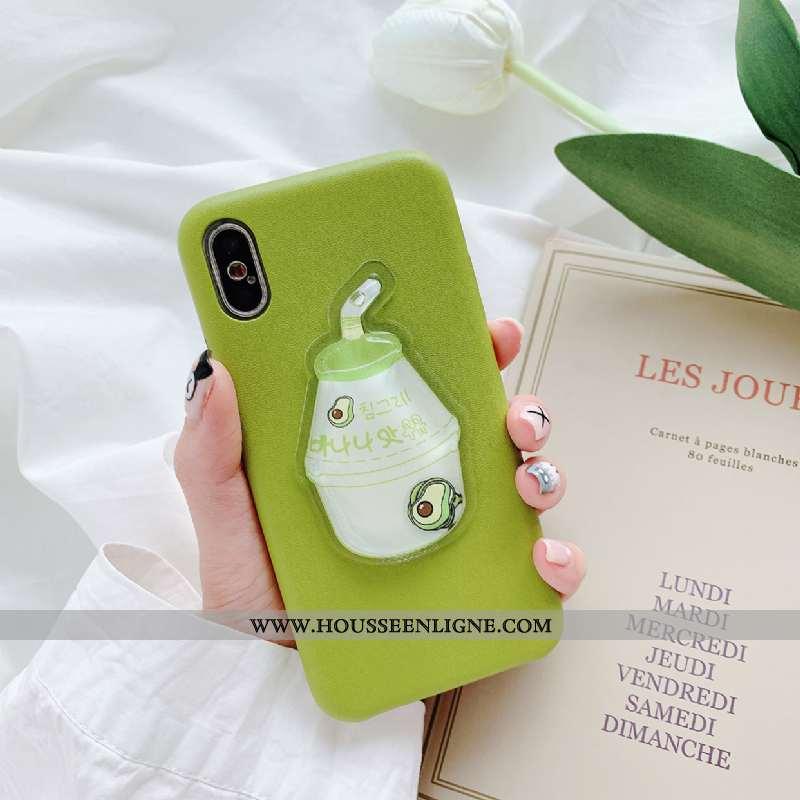 Housse iPhone Xs Silicone Téléphone Portable Incassable Liquide Amoureux Net Rouge Jaune Verte