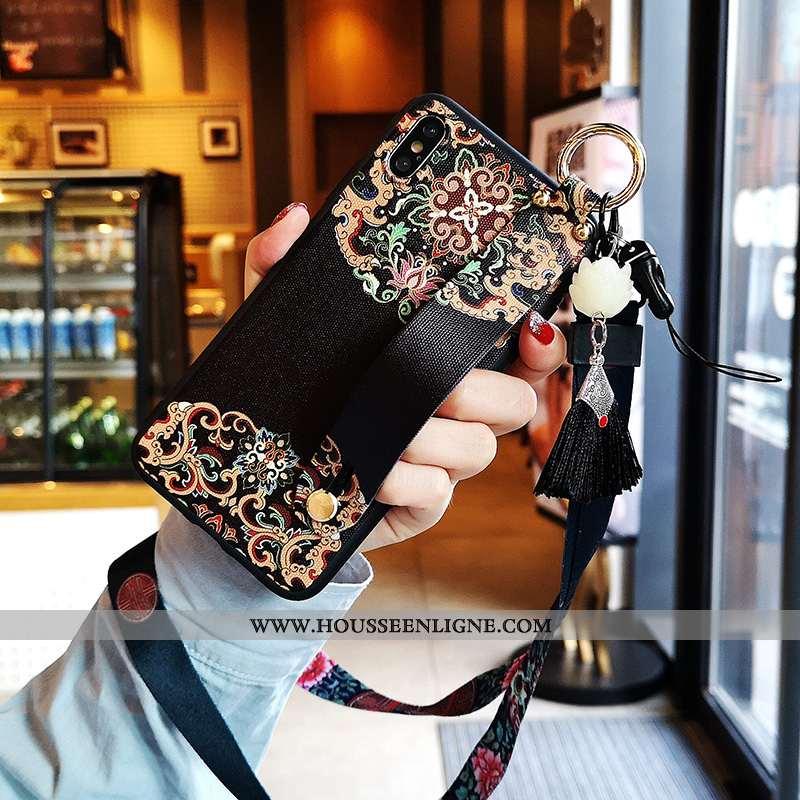 Housse iPhone Xs Silicone Tendance Rouge Tout Compris Nouveau Noir Téléphone Portable