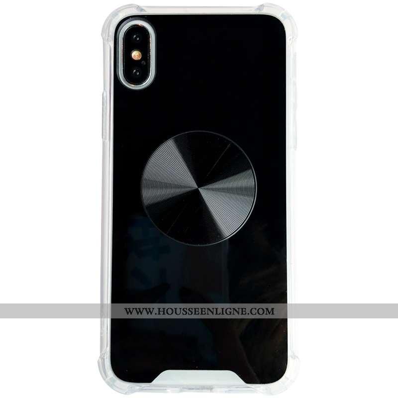 Housse iPhone Xs Tendance Noir Simple Ballon Coque Téléphone Portable Couleur Unie