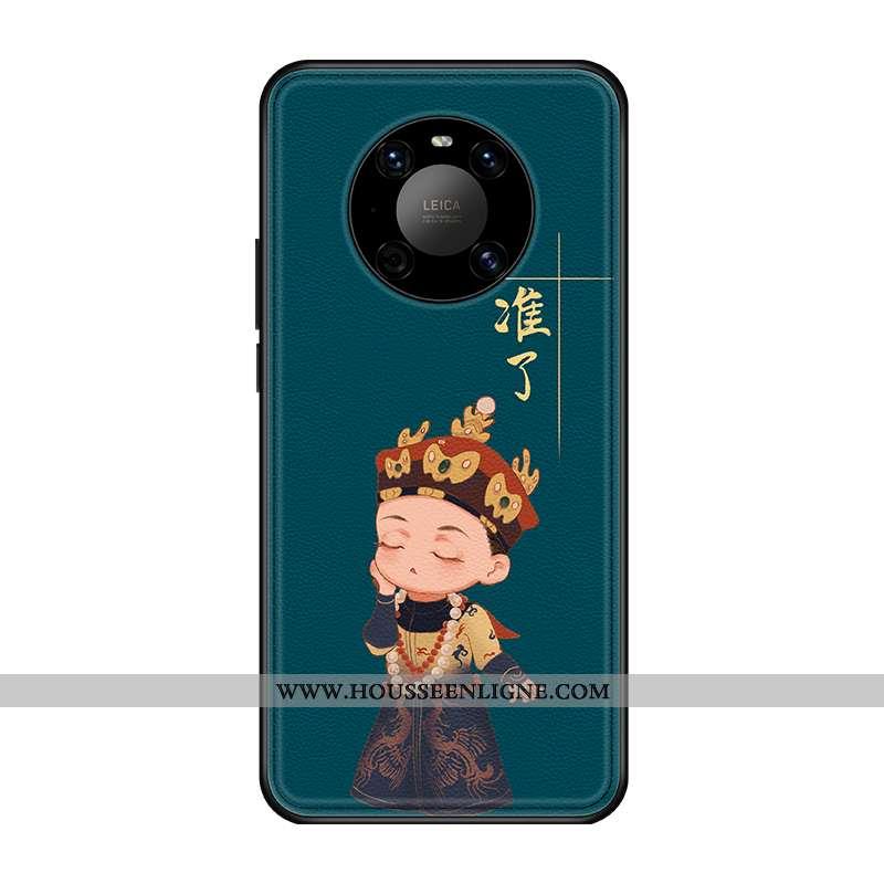 Étui Huawei Mate 40 Créatif Original Style Chinois Coque Nouveau Tendance Tout Compris Verte
