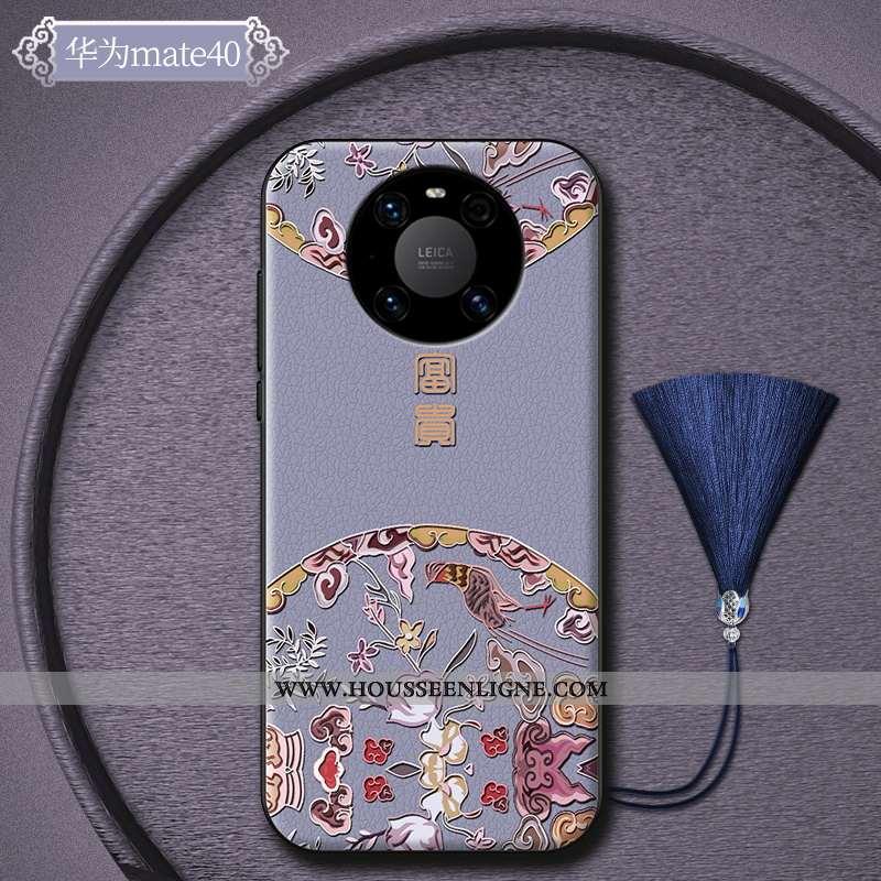 Étui Huawei Mate 40 Créatif Ultra Silicone Tout Compris Luxe Tendance Incassable Violet