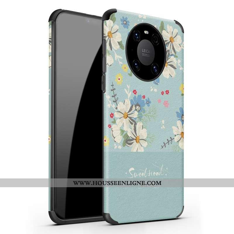 Étui Huawei Mate 40 Personnalité Créatif Délavé En Daim Tendance Protection Téléphone Portable Bleu