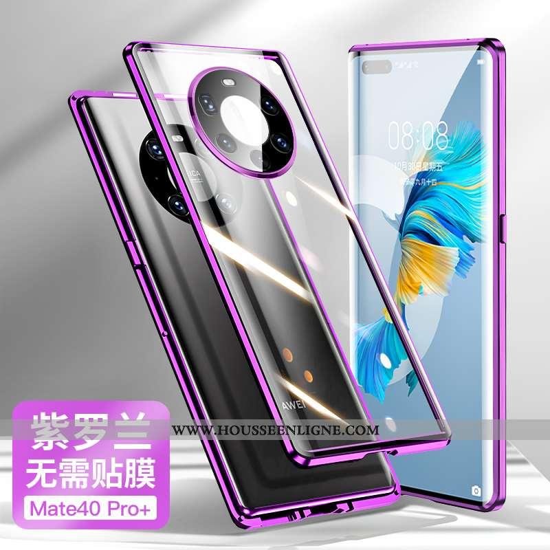 Étui Huawei Mate 40 Pro+ Créatif Tendance Tout Compris Net Rouge Protection Magnétisme Violet
