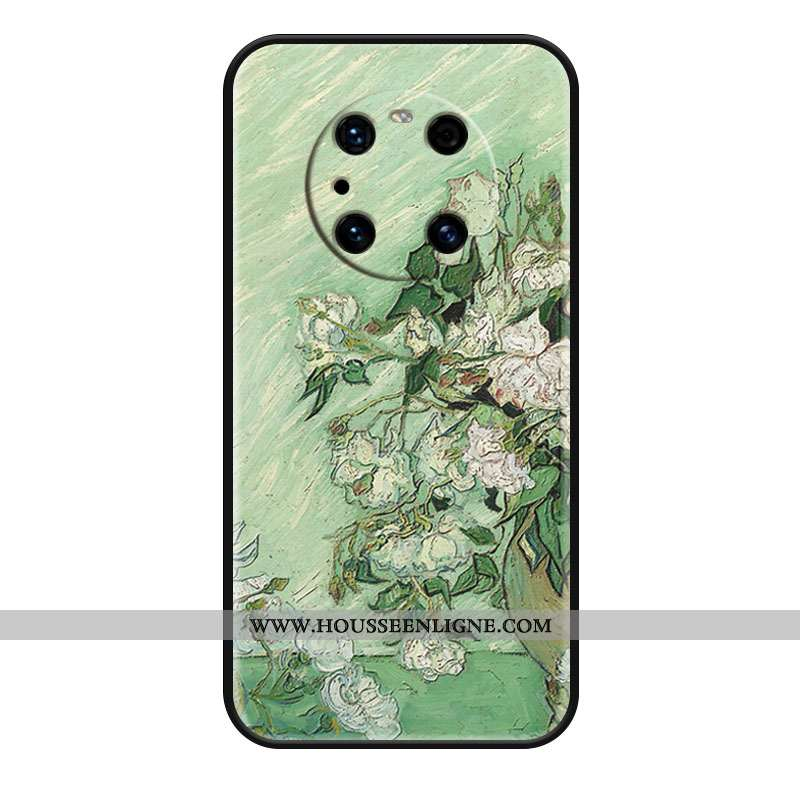 Étui Huawei Mate 40 Pro Fluide Doux Silicone Protection Blanc Luxe Coque Haute Verte
