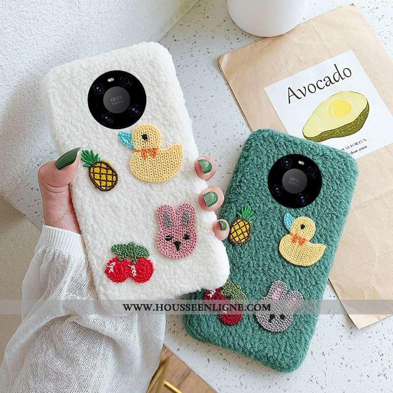Étui Huawei Mate 40 Pro Personnalité Créatif Net Rouge Téléphone Portable Blanc Protection Blanche